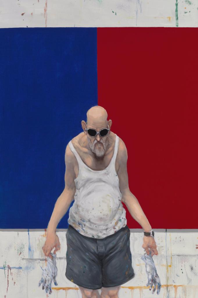 """Michael Kvium: """"Obey the Colors"""", 2017. 150 x 100 cm. Vurdering 250.000-275.000 kr."""